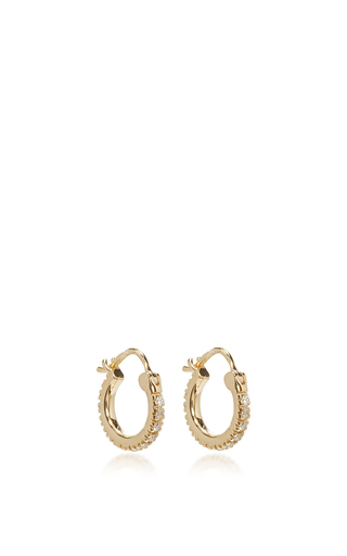 Medium sydney evan gold baby hoop earrings