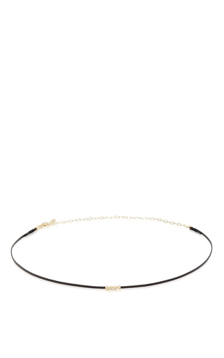 Medium sydney evan gold thin choker bar choker