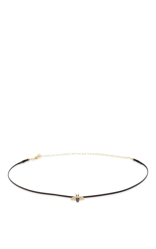Medium sydney evan black thin bee choker