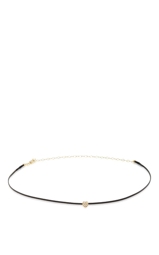 Medium sydney evan gold thin heart choker