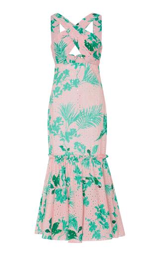 Medium johanna ortiz print m o exclusive san marcos broderie anglaise cotton dress