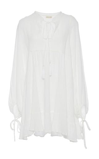 Medium natalie martin white sasha full sleeve gauze dress