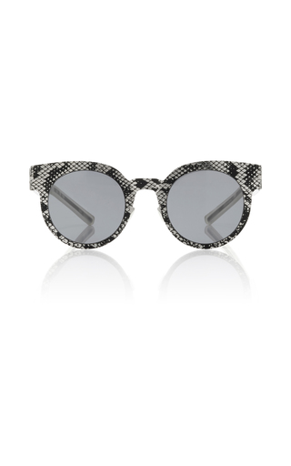 Medium mykita black python print sunglasses