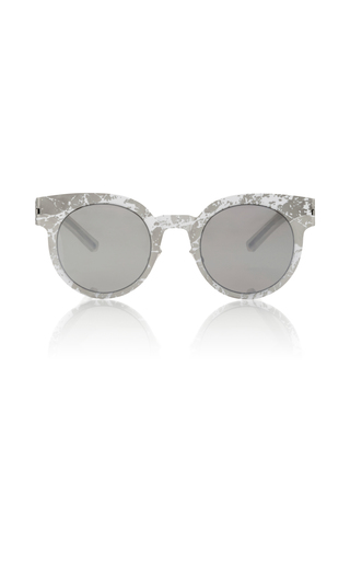 Medium mykita white marble print sunglasses
