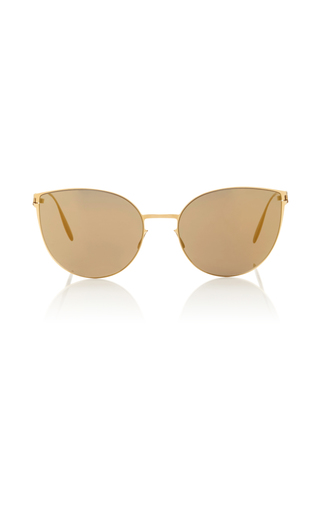 Medium mykita gold beverly sunglasses