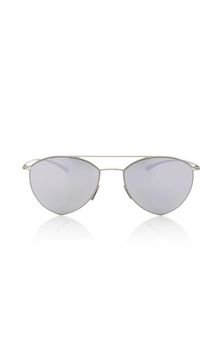Medium mykita silver silver aviator sunglasses