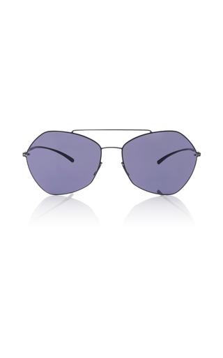 Medium mykita navy black aviator sunglasses
