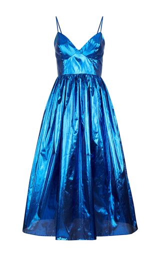 Medium malene oddershede bach blue apogee gathered a line dress