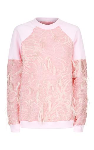 Medium malene oddershede bach pink serac raglan sleeve jumper