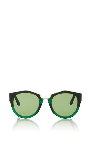 Medium marni green acetate sunglasses