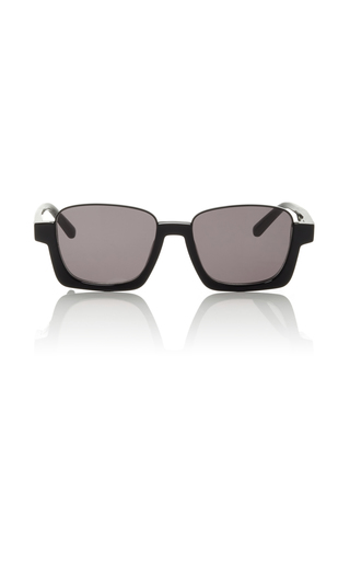 Medium marni black acetate and metal sunglasses