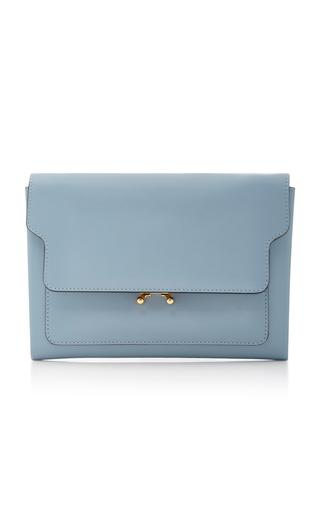 Medium marni blue leather clutch
