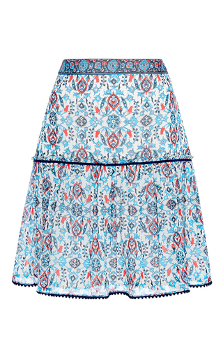 Medium talitha blue maharaja print short gia skirt
