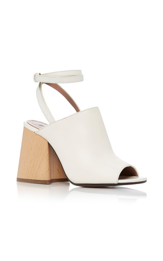 Medium marni white leather sandals
