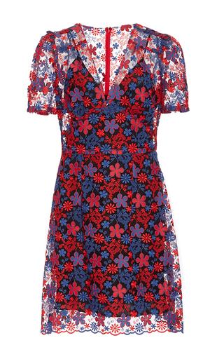 Medium anna sui multi americana daisies embroidered dress