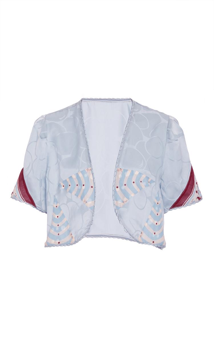 Bubble Satin Jacquard Jacket