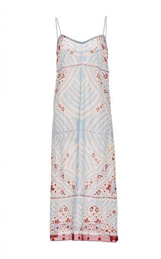 Medium anna sui blue deco squares clip dot slip dress