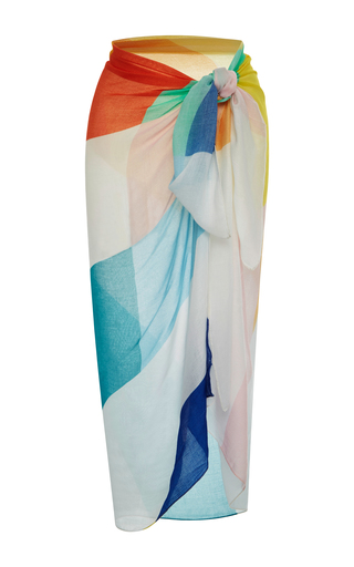 Medium mara hoffman multi printed wrap skirt