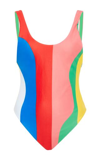 Medium mara hoffman multi beach ball high cut reversible maillot