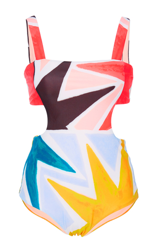 Medium mara hoffman multi superstar printed swimsuit