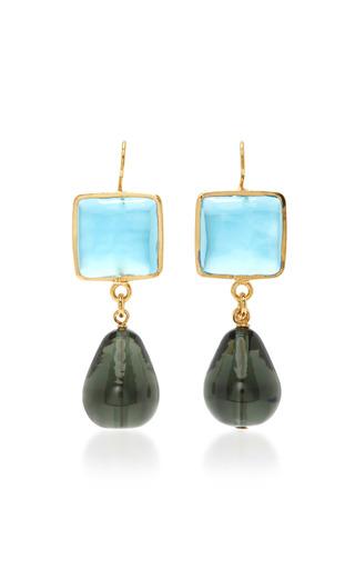 Medium loulou de la falaise blue memphis earring