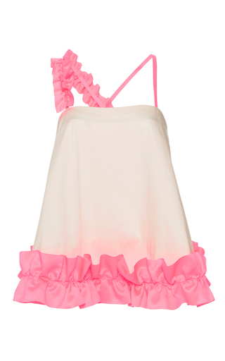 Medium paskal pink flared frill top