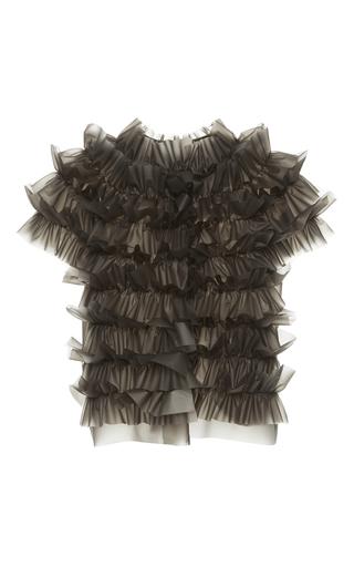 Medium paskal black vinyl frilled jacket