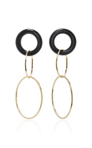 Medium mateo white 14k gold and onyx earrings
