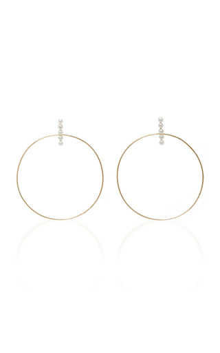 Medium mateo white simples 14k gold and pearl earrings