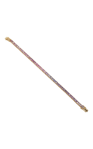 Medium abril barret multi 18k yellow gold pink 3 5mm ping pong bracelet