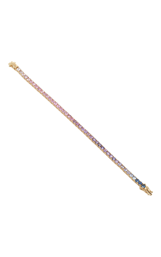 Medium abril barret multi 18k yellow gold purple 3 5mm ping pong bracelet