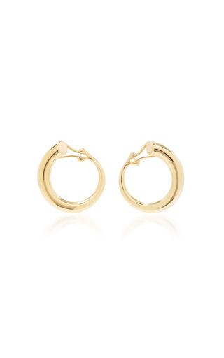 Medium charlotte chesnais gold monie large gold dipped clip earrings
