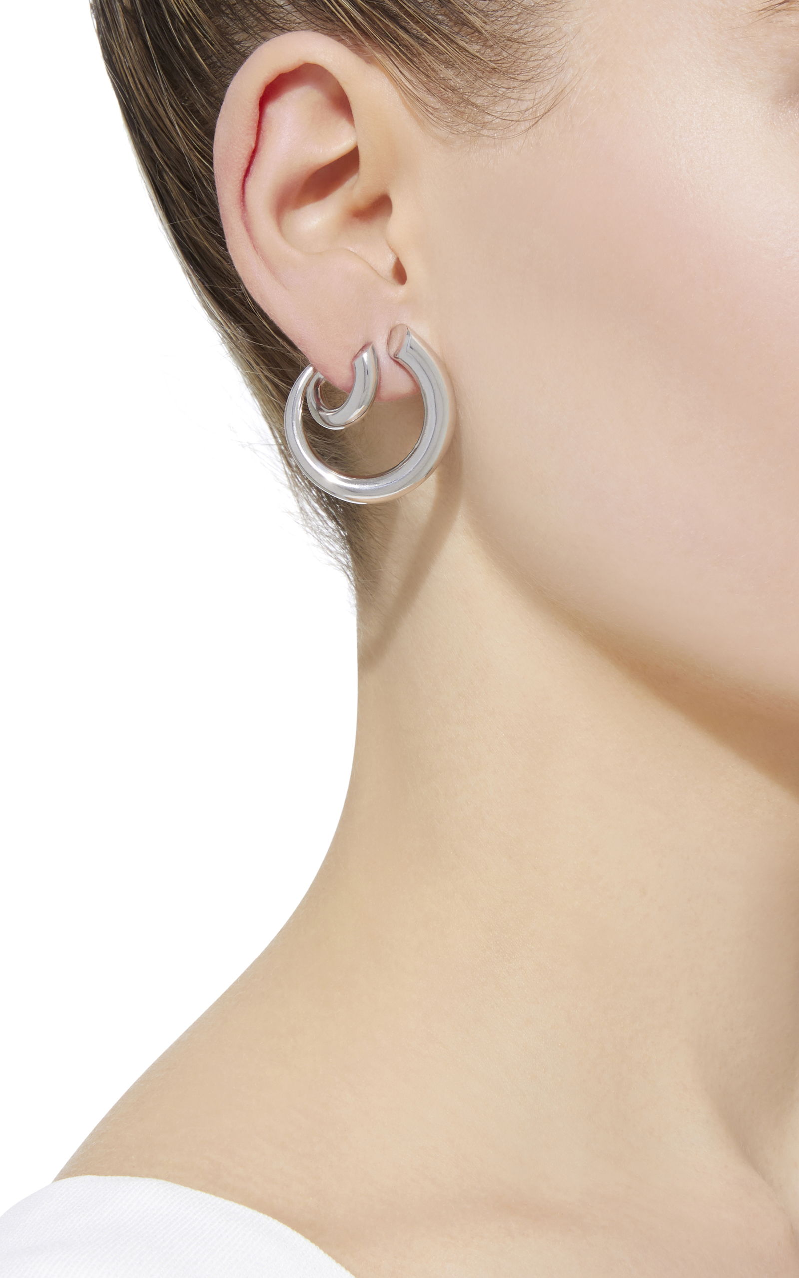 63c1f8dda Charlotte ChesnaisMonie Small and Large Silver Clip Earrings. CLOSE.  Loading. Loading. Loading