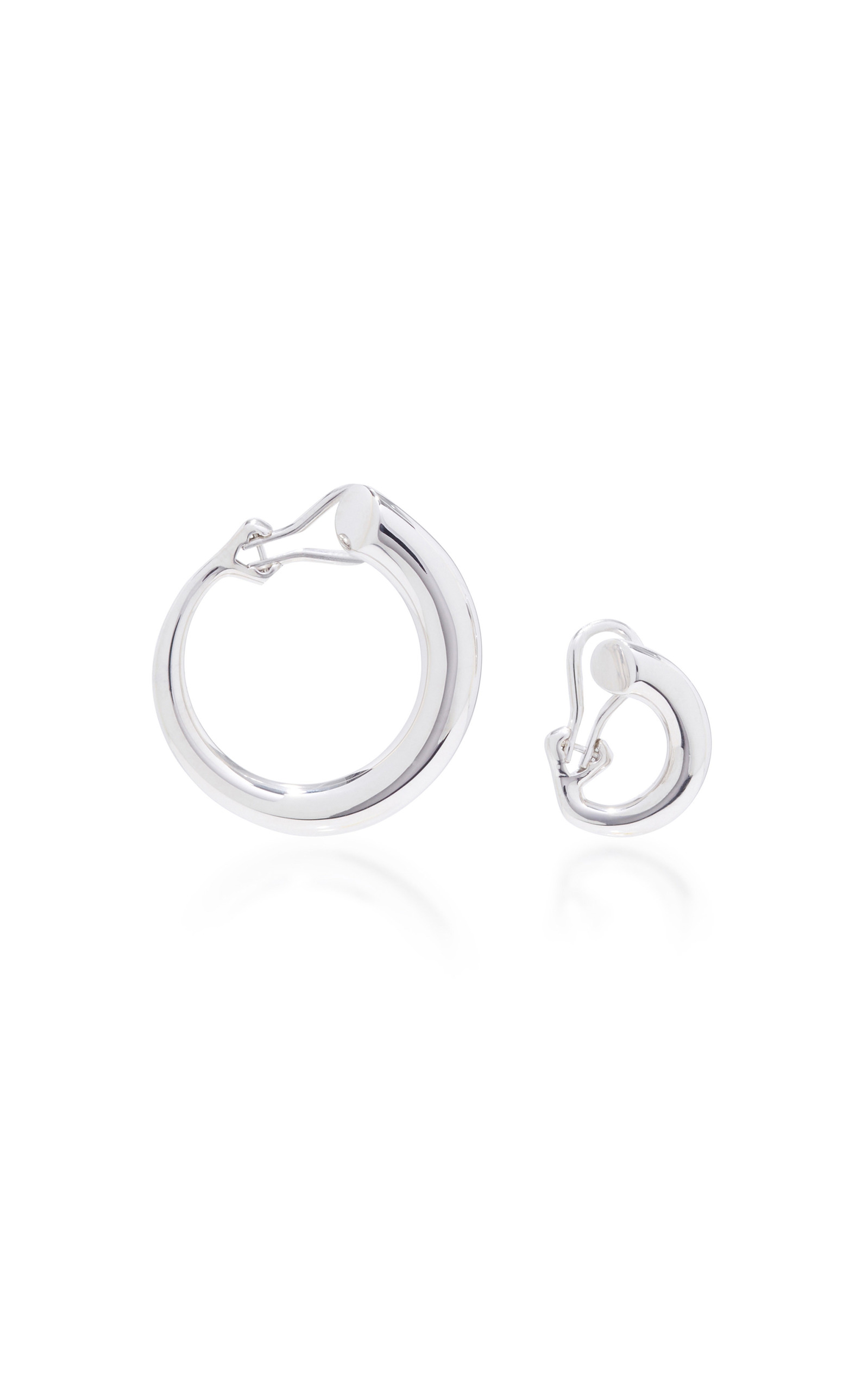 Charlotte Chesnais Monie Small Medium Earrings - Silver S4IelLH
