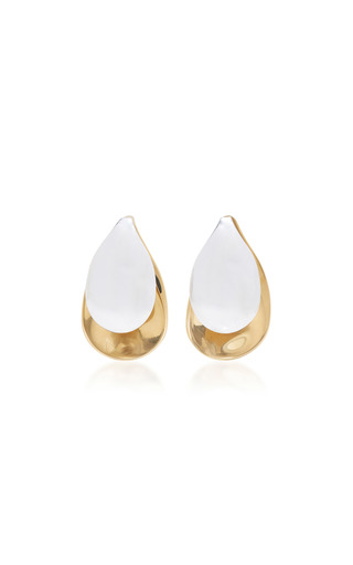 Medium charlotte chesnais metallic gold dipped and silver earrings