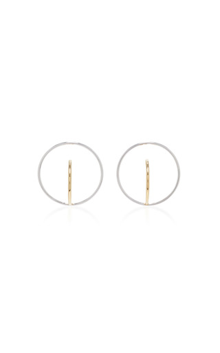 Medium charlotte chesnais metallic saturn gold dipped and silver earrings