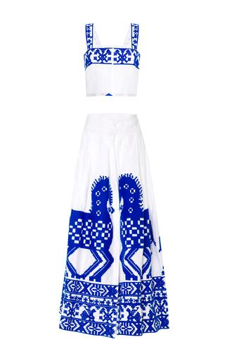 Medium yuliya magdych white herd top and skirt set