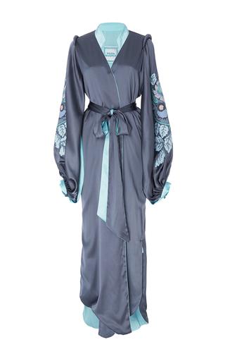 Medium yuliya magdych grey huge edentree crepe silk dress