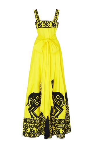 Medium yuliya magdych yellow herd linen dress