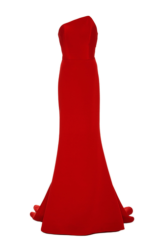Medium romona keveza red fluted skirt gown 2