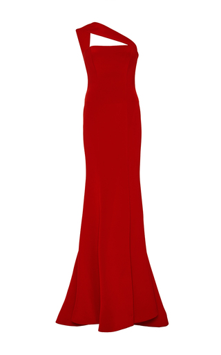 Medium romona keveza red one shoulder gown 2
