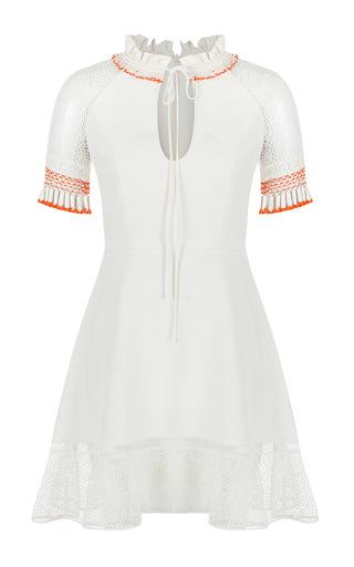 Medium zeynep tosun white ruffled tube bead dress