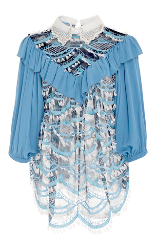 Medium alcoolique blue rosamaria ruffle top