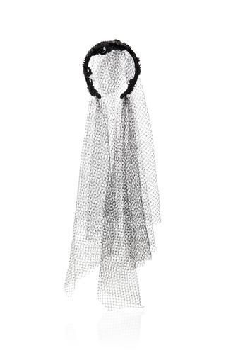 Medium dolce gabbana black fishnet veil headband