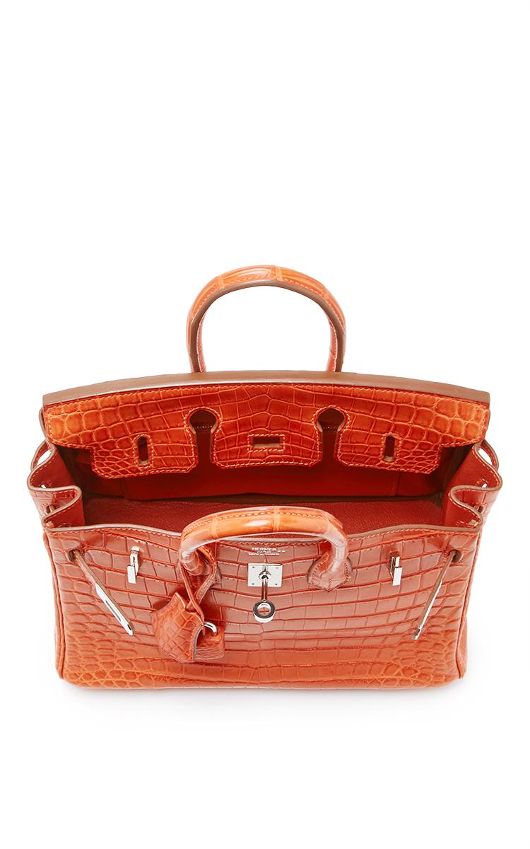 50d592ff0bdc Hermes VintageHermes 25cm Sanguine Matte Nilo Crocodile Birkin. CLOSE.  Loading. Loading. Loading. Loading