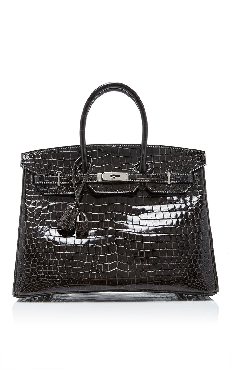 a60b1dfe01 Hermes 35cm Graphite Shiny Porosus Crocodile Birkin by Hermes ...