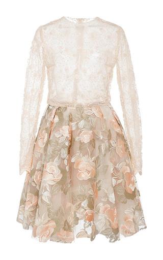 Medium lana mueller pink zahara lace embroidered mini dress
