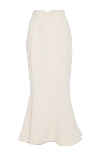 Medium lana mueller white herba trumpet midi skirt
