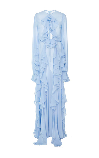 Medium lana mueller blue lily cascade collar maxi dress