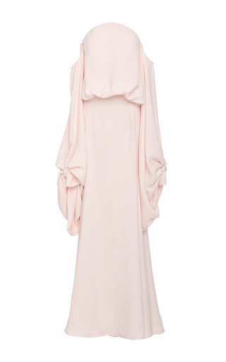 Medium lana mueller pink pausy off the shoulder maxi dress